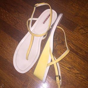 """Prada 2""""heel sandals size 10"""